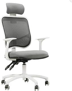 Silla de trabajo ergonómica Mástil de malla Silla de oficina con respaldo alto Silla gris Ocio silla del acoplamiento giratorio con apoyabrazos ergonómicos Silla de oficina Silla de escritorio