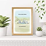 CUSTOMISED Sweet Winnie The Pooh Art Print featuring Eeyore | Sweet, Charming Design | A3, A4 and A5 Wood Effect Frames Available Made in UK