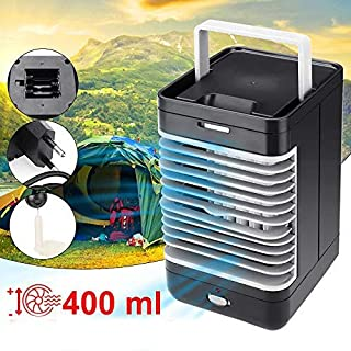 Kücheks Mini Aire Acondicionado portátil, AC 220V Ventilador de enfriamiento de Escritorio Enfriador de Aire Ventilador Negro para Acampar Actividades al Aire Libre