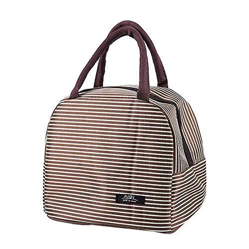 Lunchboxen für Sie Mode tragbare praktische Wärmeisolierte Tote Picknick Mittagessen Kühltasche Kühltasche Handtasche Tasche G2 20x17x23.5cm