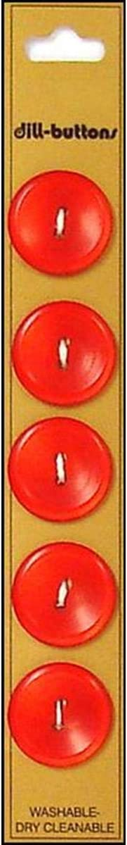 Dill Buttons 19mm 5pc Sale item 2 Hole Red Chicago Mall