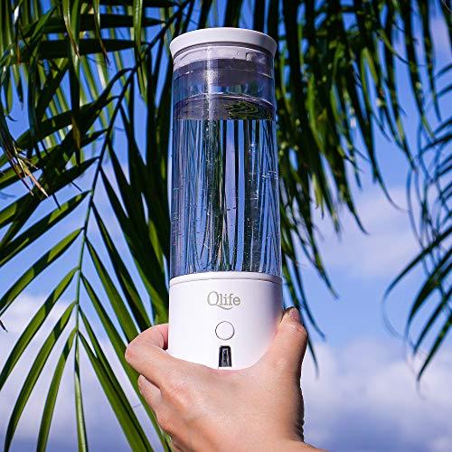 Qlife Q-Cup Hydrogen Water Generator | SPE/PEM Membrane Technology | High Grade Titanium Plates | Best Selling Portable Molecular Hydrogen Cup (White)