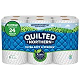 Quilted Northern Ultra Soft & Strong Earth-Friendly Toilet Paper, Bath Tissue Rolls, Double Rolls, 12 Count of 164 Sheets Per Roll (Packaging May Vary)