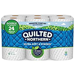 Quilted Northern Ultra Soft & Strong Earth-Friendly Toilet Paper, Bath Tissue Rolls, Double Rolls, 1