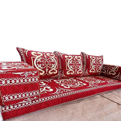 Spirit of 76 Sofá de suelo estilo árabe con relleno interior de majlis oriental, SHI_FS306