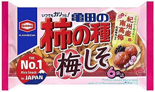 亀田製菓 亀田の柿の種梅しそ 6袋詰 173g×12袋