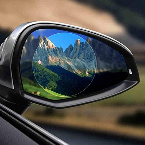 51W89OL+v0L - Freenavi Car Rearview Mirror Waterproof Film, Anti Fog Film Anti-Glare Anti Mist Anti-Scratch Waterproof Rainproof Rear View Mirror Window Clear Protective Film-2Pcs