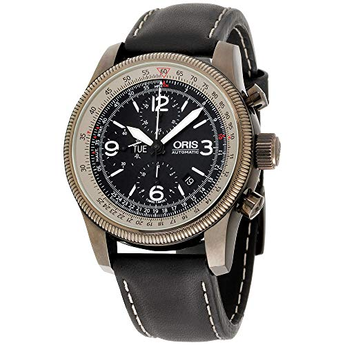 Oris メンズ 675 7648 4264LS ビッグクラウン X1 電卓 ブラックダイヤル 腕時計
