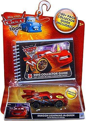 Mattel R2201-0 - Disney - CARS - Collector Guide, Sammelbuch mit exklusivem Dragon McQueen Die-Cast Fahrzeug