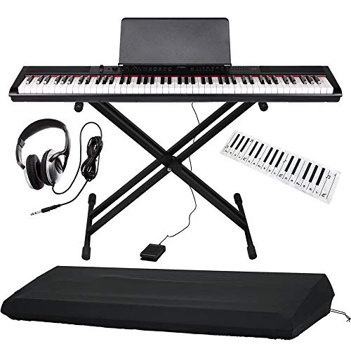 Artesia 電子ピアノ バリューセット 88鍵 PE-88/BK ブラック (サスティンペダル/スタンド/ヘッドフォン/鍵盤デザインクロス付属) + GATOR製ピアノカバー付き
