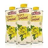 GEFRO Omega-3 Speiseöl kaltgepresstes Rapsöl mit Vitamin E und ohne Gentechnik (3x750ml)