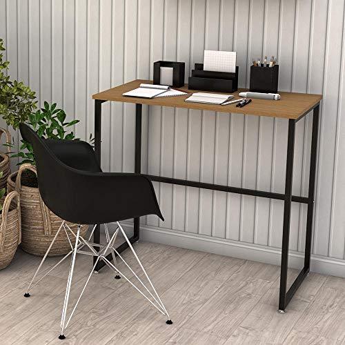 Escrivaninha Mesa Escritório para Notebook Home Office Estilo Industrial Delin Dicarlo