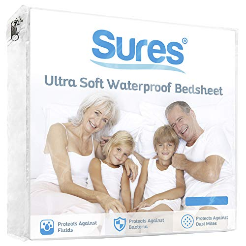 Sures Waterproof Mattress Protector - King Size Bedsheet -...