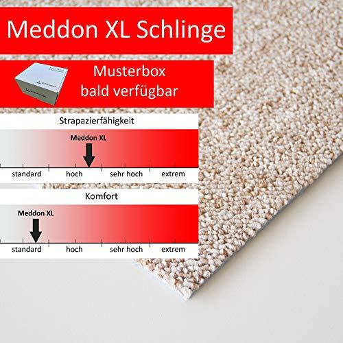 Steffensmeier Schlingen Teppichboden Meddon XL Meterware | Auslegware für Flur Büro | 1m 2m 3m 4m 5m breit! | Beige, Größe: 300x600 cm
