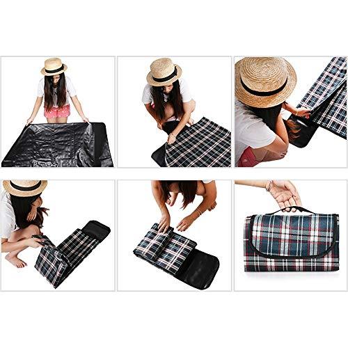 RUGS Picknickdecken Outdoor Wasserdichte Picknickdecke Tragbare Oxford Teppich Campingausrüstung 150 * 200Cm,Braun