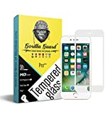 Gorilla guard's HD+ White bezled 3D tempered glass screen protector for Apple iPhone 8+ Plus 5.5inch (Pro series) 8H hardness, oleophobic, UV protect, 2.5D rounded edges, neo coated, free installation kit.