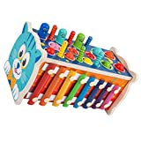 Kisangel 1 Juego de Martillo de Madera Martillo de Xilófono Juguete de Música Juguete para Niños Pequeños Juguete de Juego de Música de Desarrollo Temprano
