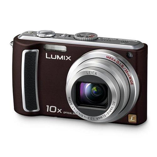 Panasonic DMC-TZ5EG-TA Digitalkamera (9 Megapixel, 10-fach opt. Zoom, 7,6 cm (3 Zoll) Bildschirm, Bildstabilisator) chocolate