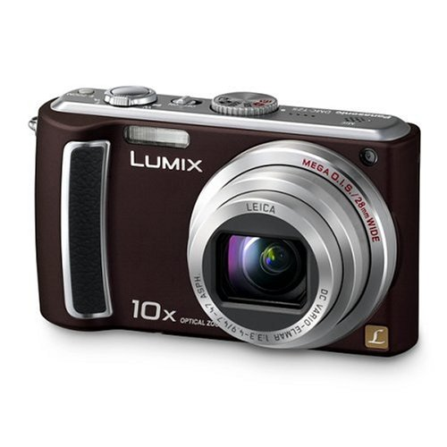 Panasonic DMC-TZ5EG-TA Digitalkamera (9 Megapixel, 10-fach opt. Zoom, 7,6 cm (3 Zoll) Display, Bildstabilisator) chocolate