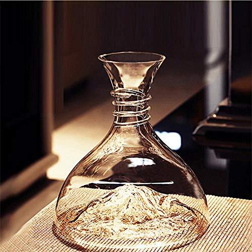 Novia Rode Wijn Dispenser Grote Capaciteit Drank Whiskey Fles Glas Wijn Decanter 1800Ml Loodvrije Kristal