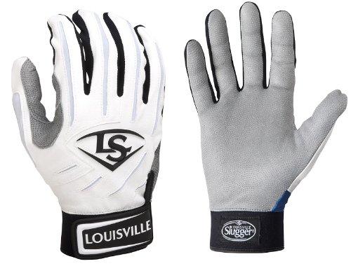Louisville Slugger 1pr BGS714 Mens XX-Small White/White Series 7 Batting Gloves