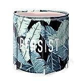 Cubo de baño Plegable Plegable Baño Barril for Adultos y niños portátil y fácil de almacenar Patrón Planta (Color : Verde, Size : 65x70cm)