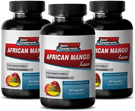 Weight Loss Natural Supplements African Mango Lean Extract Mango Slim 3 Bottles 180 Capsules product image