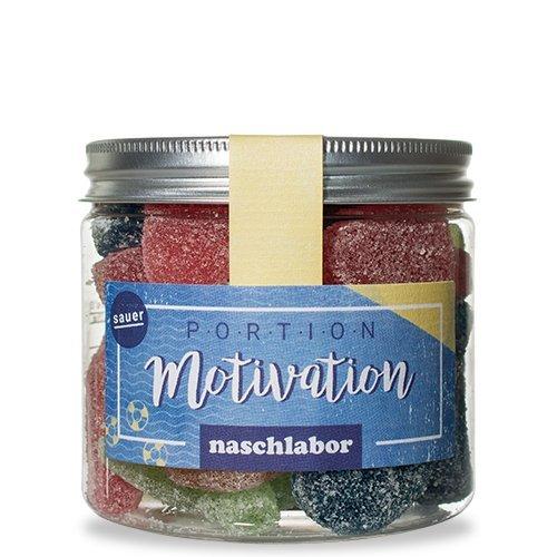 Portion Motivation Fruchtgummi-Mix von Naschlabor - Der Motivationsschub zum naschen für die Arbeit, die Schule oder die Uni oder als Geschenk für Freunde, Kollegen oder Kommilitonen