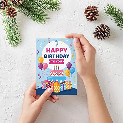 TIME TRADING CORPORATION TTC - Happy Birthday - Musical Greeting Card. Plays Tune Happy Birthday When Opened. Great for Friends, Wife, Husband, Relatives, Children, Parents (Style-5)