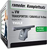 Rameder Komplettsatz, Dachträger SquareBar für VW Transporter/CARAVELLE T6 Bus (124911-14350-2)