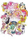 SET PRODUCTS  Top Pegatinas! Juego de 75 Pegatinas de Sailor Moon Vinilos - No Vulgares - Fashion, Estilo, Bomba - Personalización Portátil, Equipaje, Moto, Scrapbooking.
