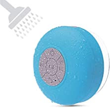 BONBON Bluetooth Shower Speaker Waterproof Water Resistant Handsfree Portable Wireless Shower Speaker, Build-in Microphone, Solid Suction Cup, 4 hrs Play Time, Blue