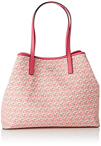 Guess Vikky Large Tote, Bolso Tipo Mujer, Multicolor (Pink Multi), 18x31x40 Centimeters (W x H x L)