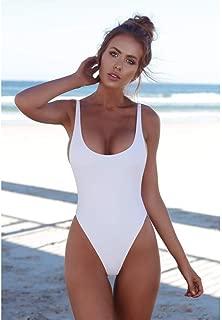 Qiyun Badeanzug Schwimmausrüstung Women Sexy Slim Sling Solid Color One-Piece Bikini