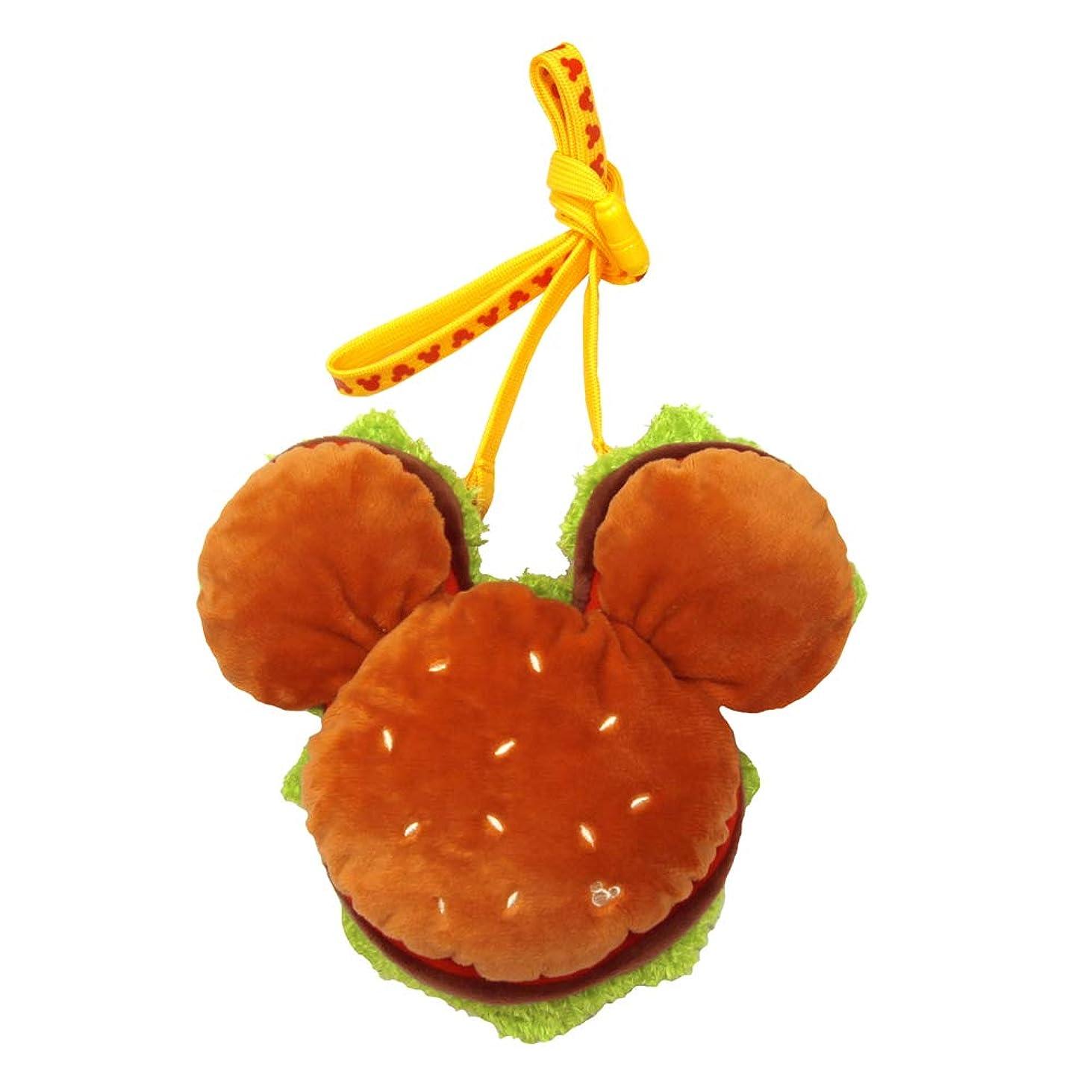 裁判所徹底的にキャンベラミッキーシェイプ ミッキー マウス ハンバーガー パスケース ネック コインケース 小銭入れ ポーチ ( 東京 ディズニー リゾート限定 )