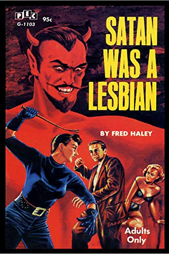 Satan Was A Lesbian Vintage Pulp Novel Cover Retro Art Poster CANVAS Print