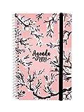 Finocam - Agenda 2021 Semana vista apaisada Espiral Design Collection Sakura Español, Mediano -...