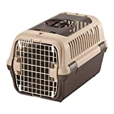 リッチェル キャンピングキャリーダブルドア 小型犬・猫用 ダークブラウン M サイズ
