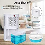 Gocheer upgraded dehumidifier for home,up to 480 sq. Ft dehumidifiers for high humidity in basements bedroom closet… 11 high effectively dehumidifier:comes with a 2000ml(68oz) water tank which can quickly and effectively remove up to 1000ml(34oz,temperature: 86 °f humidity: 80% rh) of moisture from the air per day. Keep your home comfortable and healthier all the time. Application area:up to 480 sq. Ft,this household portable small dehumidifier is widely used in all kinds of scenes such as your home,bathroom,living room,bedroom,closet,kitchen,which can efficiently meet your daily needs for removing moisture. Upgraded energy saving:compared with bulky compressor dehumidifiers,our compact home dehumidifier equips with semiconductor condensation technology which can ensure maximum water extraction with minimum power use.