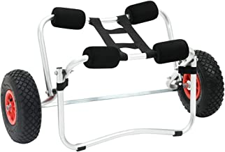 vidaXL Kayak Trolley Kayaktrolley Wagentje Kar Vervoermiddel Transportmiddel