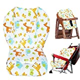 Baby High Chair Cushion,Baby Seat Cushion/High Chair Cushion,Cute Animal Pattern Cushion Soft Double-Sided Thick Cushion Breathable