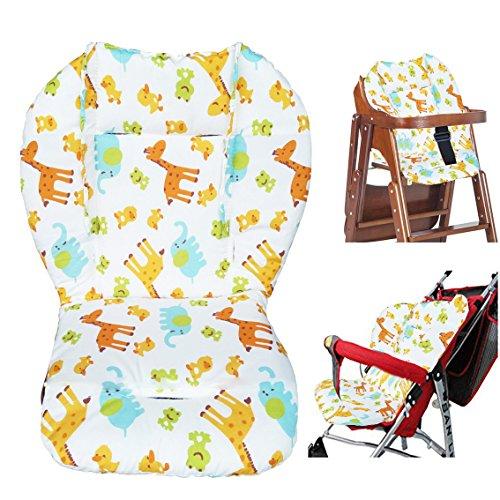 Baby hoge stoel kussen, baby stoel kussen/hoge stoel kussen, schattig dier patroon kussen zacht dubbelzijdig dikke kussen ademend