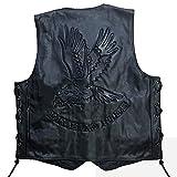 Chaleco de piel de águila Live to Ride Hells, diseño (L)