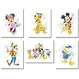 Wandkunst-Poster mit Micky-Maus-Motiv – Set mit 6 Fotos