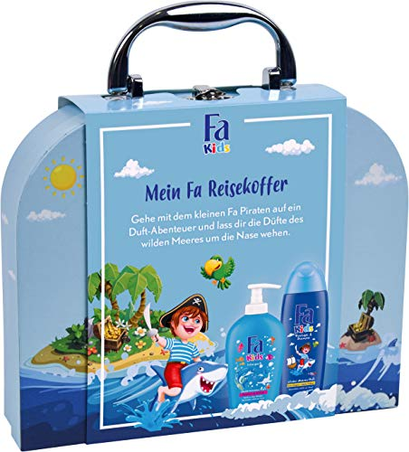 FA KIDS Geschenkset Meerjungfrau mit 250ml Duschgel & Shampoo, 250ml Flüssigseife und FA KIDS Spielkoffer, 1er Pack (1 x 500 ml)