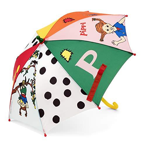 Micki & Friends 44377400 Pippi Langstrumpf Regenschirm Sonnenschirm Kinderregenschirm - Kinder – bunt - ab 3 Jahren - Astrid Lindgren