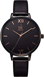 Simplicity Creative Women Watch Genuine Leather Elegant Women Watches Ladies Business Wristwatch