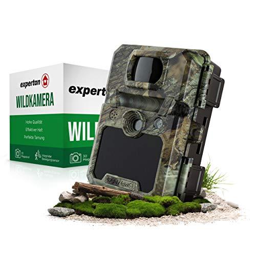 Expertan - Telecamera mimetica per animali selvatici, leggera e piccola, con display a infrarossi, sensore di movimento integrato, istruzioni incluse (lingua italiana non garantita)