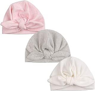 Cute Bow Newborn Hat Cotton Infant Girls Beanie Hat Spring Autumn