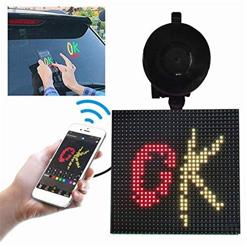 FENSIN LED Bildschirmgesteuertes Emoji, Auto LED Bildschirm-, Bilderlichter und Mini-Akzentstrahler, offene LED Bluetooth App für iOS und Android-System (Black)